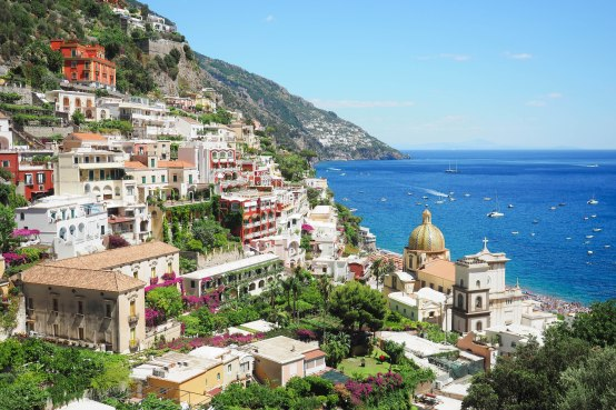 Overlooking the magnificent Positano.
